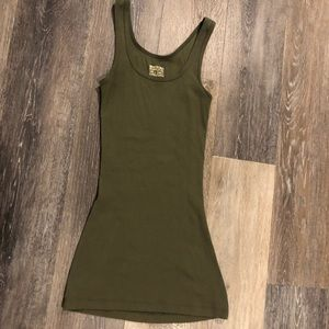 Army green ribbed Tank